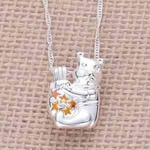 Winnie The pooh Necklace Disney silver